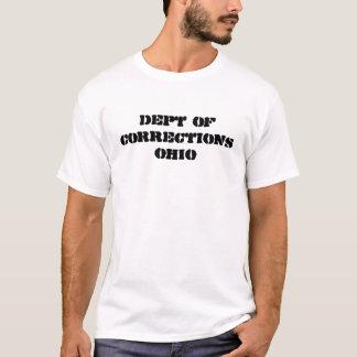 Camiseta departamento das correções OHIO
