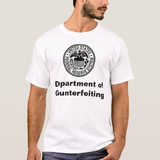 Camiseta Departamento de falsificar