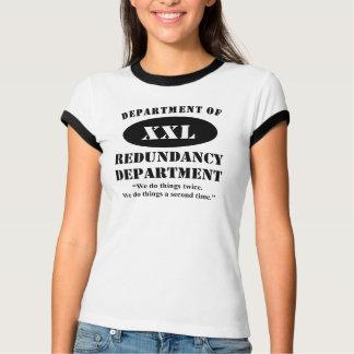 Camiseta Departamento do departamento da redundância