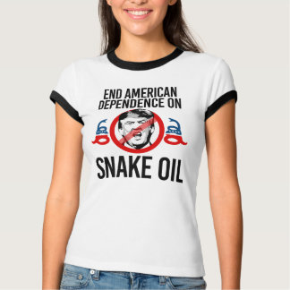 Camiseta Dependência americana do fim no óleo de cobra --