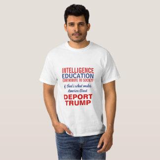 Camiseta Deport a indicação da imigração do Anti-Trunfo do