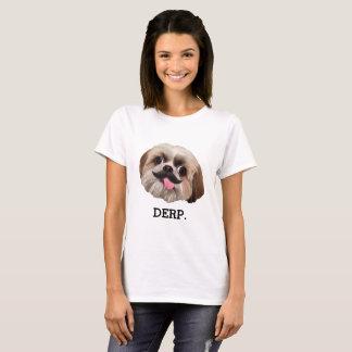 Camiseta Derp! Derpy Shih Tzu com bigode