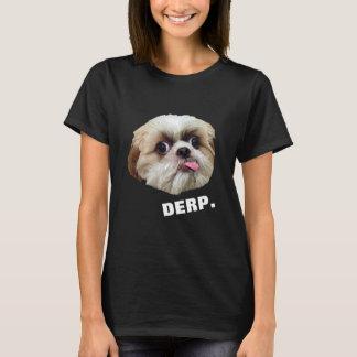 Camiseta Derp! Derpy Shih Tzu (na obscuridade)