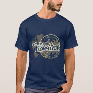 Camiseta derrame a caminho o t-shirt francês da frase do