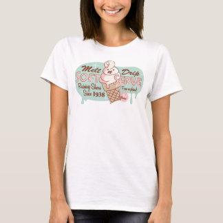 Camiseta Derreta o tanque macio do sorvete do saque do