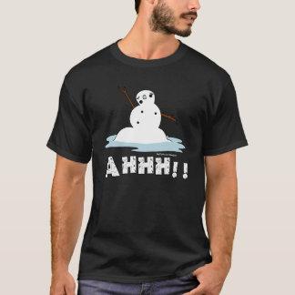 Camiseta Derretimento do boneco de neve