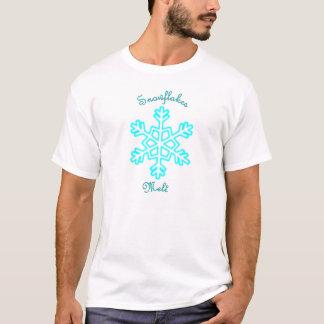 Camiseta Derretimento dos flocos de neve