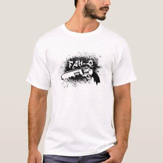Camiseta derretimento preto da arma