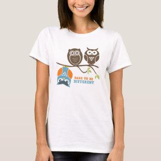 Camiseta Desafio bonito do t-shirt dos desenhos animados da