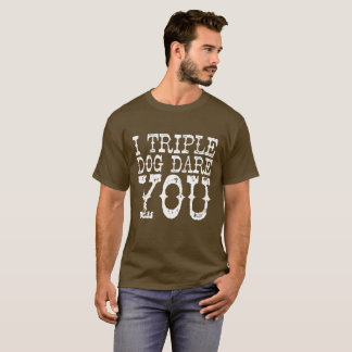 """Camiseta """"Desafio triplo do cão """""""