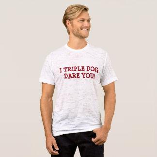 Camiseta Desafio triplo do cão você t-shirt