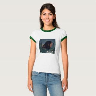 """Camiseta Desconte o promo """"livre"""" novo do solteiro de"""