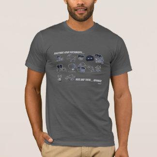 Camiseta Descubra seus originais em qualquer lugar…