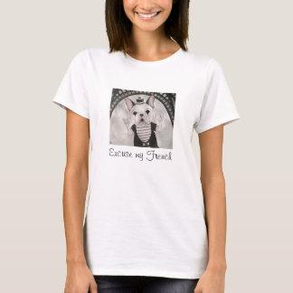 Camiseta Desculpe meu t-shirt francês