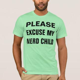 Camiseta desculpe minha criança do nerd