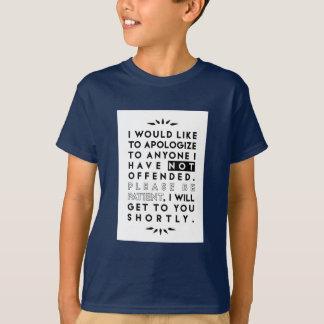 Camiseta desculpe-se