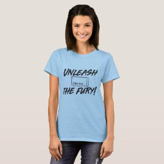 Camiseta Desencadeie o fechamento de bonés da fúria