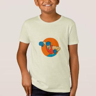 Camiseta Desenho aéreo do círculo do perfurador do