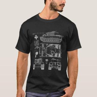 Camiseta Desenho alemão do tanque do tigre 1