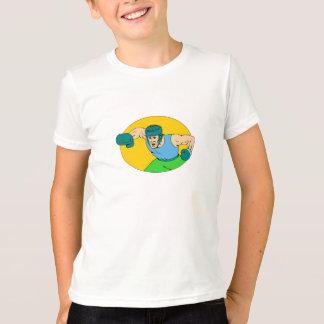 Camiseta Desenho amador do perfurador de KO do pugilista