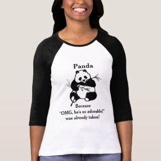 Camiseta Desenho bonito do urso de panda da novidade