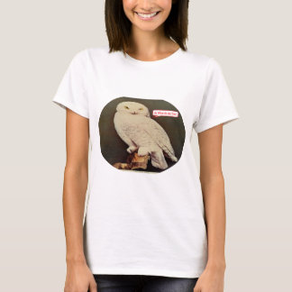 Camiseta desenho branco da coruja