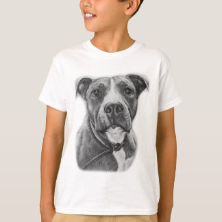 Camiseta Desenho da arte do animal do cão do pitbull