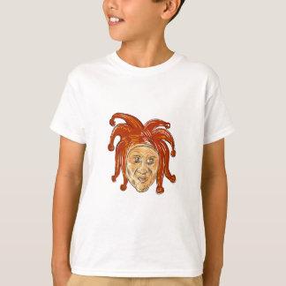 Camiseta Desenho da cabeça do bobo da corte da corte