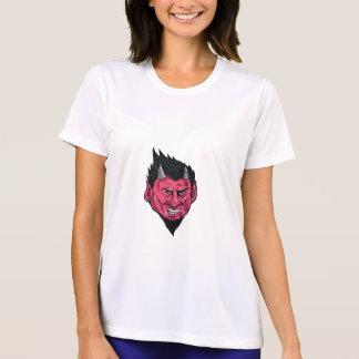 Camiseta Desenho da cabeça do Goatee dos chifres do demónio