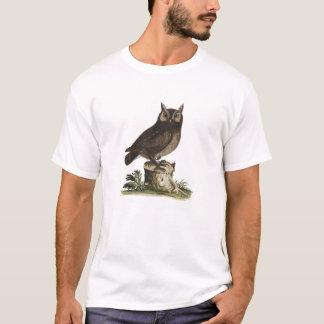Camiseta Desenho da coruja do vintage