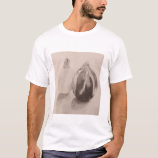 Camiseta Desenho da grafite da polpa em preto e branco