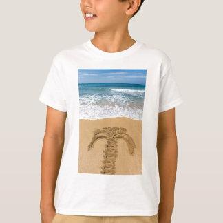 Camiseta Desenho da palmeira no Sandy Beach