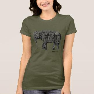 Camiseta Desenho da tinta da caneta da construção do