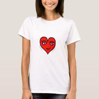 Camiseta Desenho de caráter do coração
