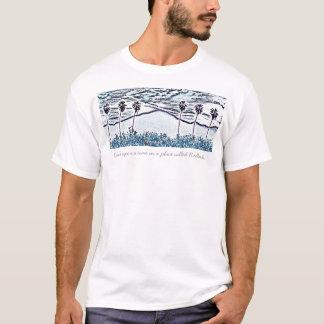 Camiseta Desenho de giz das palmas de Jim seis, uma vez…