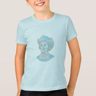 Camiseta Desenho do busto do explorador de Christopher