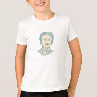 Camiseta Desenho do escritor de Edgar Allan Poe