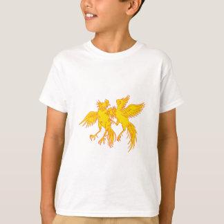 Camiseta Desenho do galo novo dos galos do Cockfighting