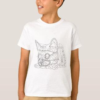 Camiseta Desenho do gato ilusório para colorir