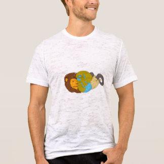 Camiseta Desenho do globo do mapa de Médio Oriente da