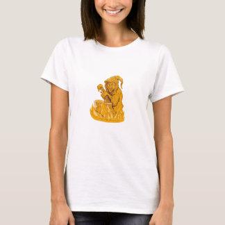 Camiseta Desenho do pote da fermentação do Stirring da