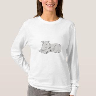Camiseta Desenho do sono do cordeiro