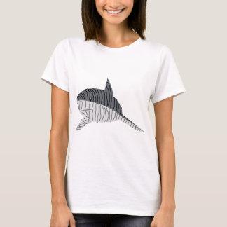 Camiseta Desenho do tubarão de tigre