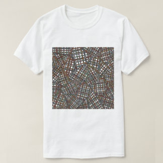 Camiseta Desenho do weave de cesta