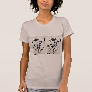Camiseta Desenho medieval da arte da flor