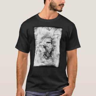 Camiseta Desenho preto e branco do balancim de punk do