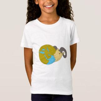 Camiseta Desenho principal do globo de Médio Oriente da ram