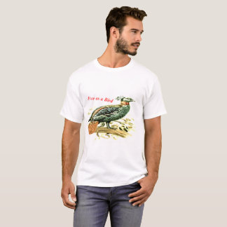 Camiseta Desenho velho de um faisão