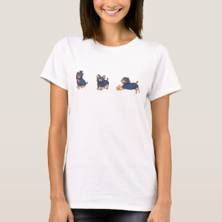 Camiseta desenhos animados 2 do yorkie