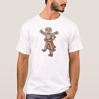 Camiseta Desenhos animados bonitos de Emo da menina que